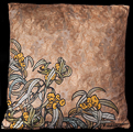 Coussin Alfons Mucha : Emeraude (dos)