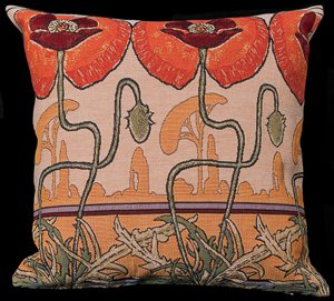 Mucha cushion cover : Pavots