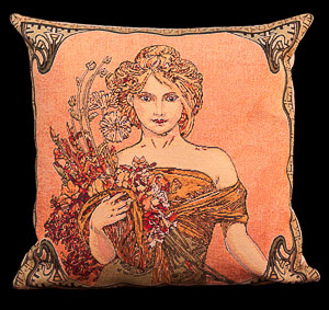Mucha cushion cover : Spring