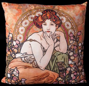 Coussin Mucha : Topaze