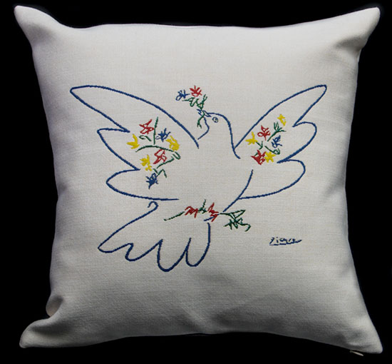 Pablo Picasso cushion cover : The dove