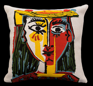Pablo Picasso cushion cover : Woman with a hat