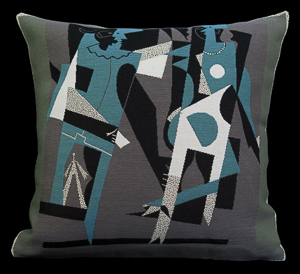 Pablo Picasso cushion cover : Harlequin and Lady with Necklace