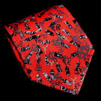 Arman Silk Tie, Currency (red)