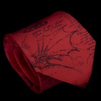Leonardo Da Vinci Silk Tie, Codex (red)