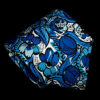 Raoul Dufy silk tie, The beautiful flowers (Blue)