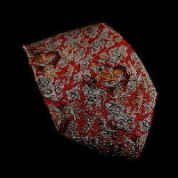 Raoul Dufy silk tie, Hunting (red)