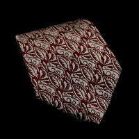 Raoul Dufy silk tie, Leaves and Waves (red)