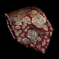 Raoul Dufy silk tie, Paris (red)