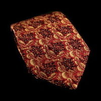 Raoul Dufy silk tie, Tortoises (red)