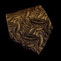 Raoul Dufy silk tie, Tulips and leaves (gold)