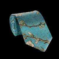 Vincent Van Gogh Silk Tie, Almond Branches in Bloom