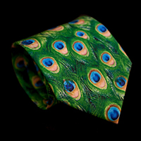 Tiffany Silk Tie, Peacock