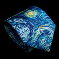 Vincent Van Gogh Silk Tie, Starry night