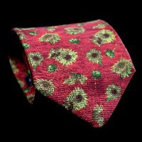 Vincent Van Gogh Silk Tie, Sunflowers (red)