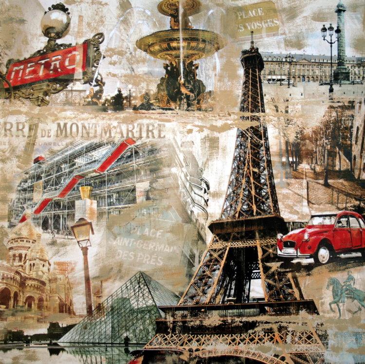 Tyler BURKE : Paris : 50 x 50 cm, Reproduction in Fine Art ...