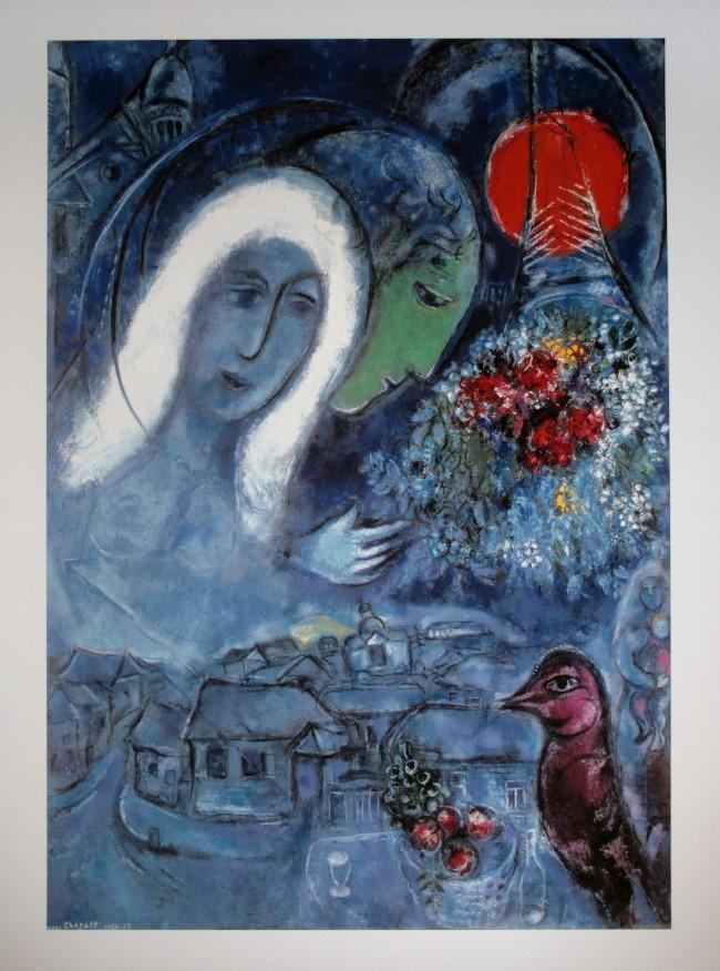Marc chagall le champs de mars 1954 55 reproduction for Biographie de marc chagall
