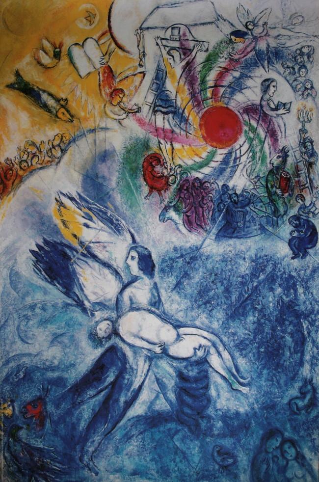 Marc chagall la cr ation de l 39 homme 1956 58 for Biographie de marc chagall