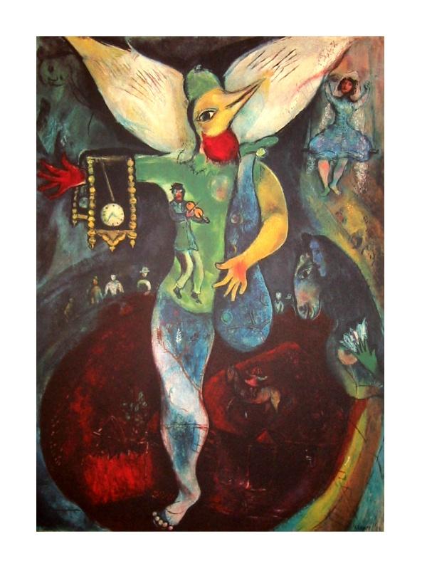 Marc chagall le jongleur 1943 quadrichromie sur un for Biographie de marc chagall