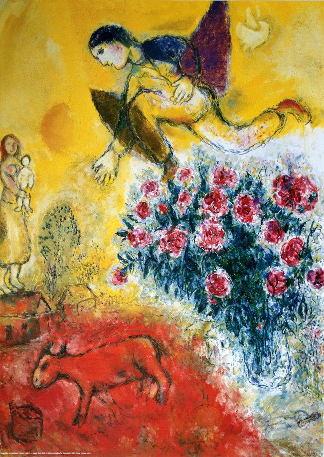 Marc chagall l 39 envol 1968 71 reproduction en affiche for Biographie de marc chagall