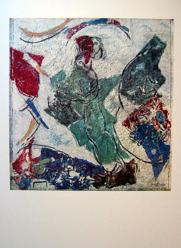 Marc chagall les amoureux mosa que 1964 65 for Biographie de marc chagall