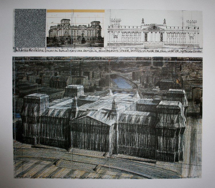 Christo And Jeanne Claude Wrapped Reichstag Project For