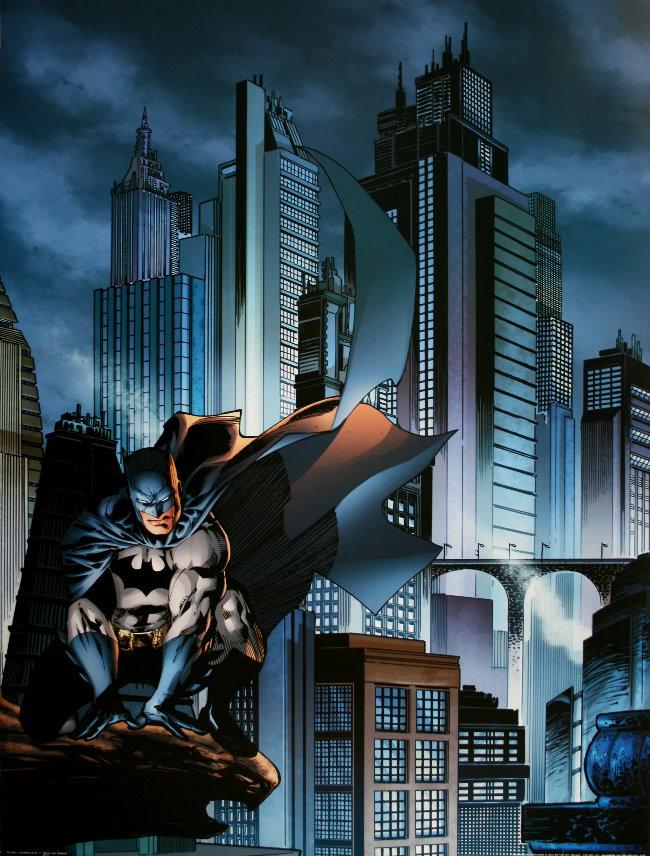 dc comics gotham city i batman reproducci243n l224mina