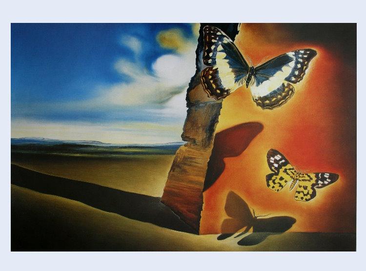 Easy Watercolor Paintings Of Butterflies Salvador DALI : Paisaj...