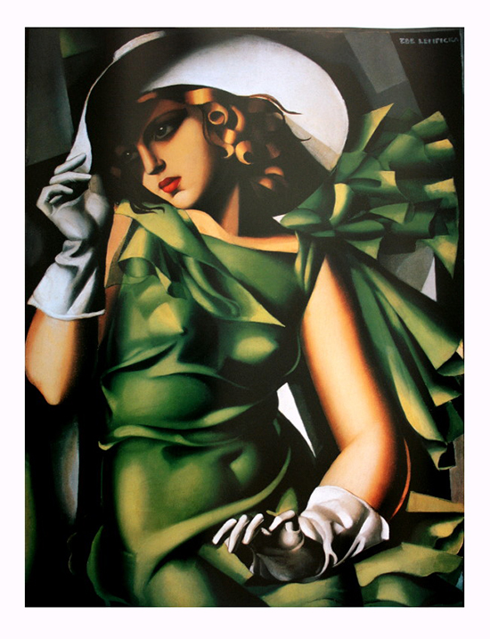 Tamara De Lempicka poster print, Young girl in green, 1930