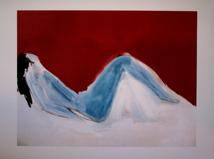 Toile Nicolas De Staël : Nu bleu couché : 90 x 60 cm
