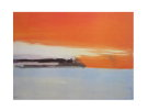 Nicolas DE STAEL : Seaside Railway Line in the Setting Sun