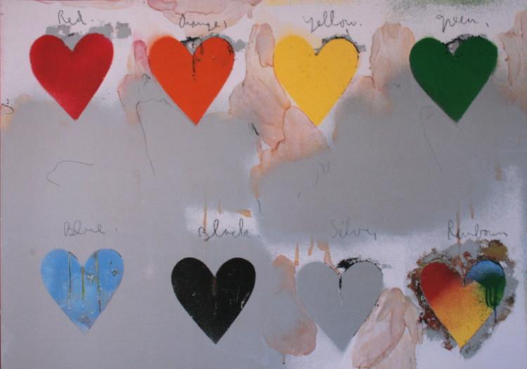 jim dine   hearts   reproduction  fine art print  pop art