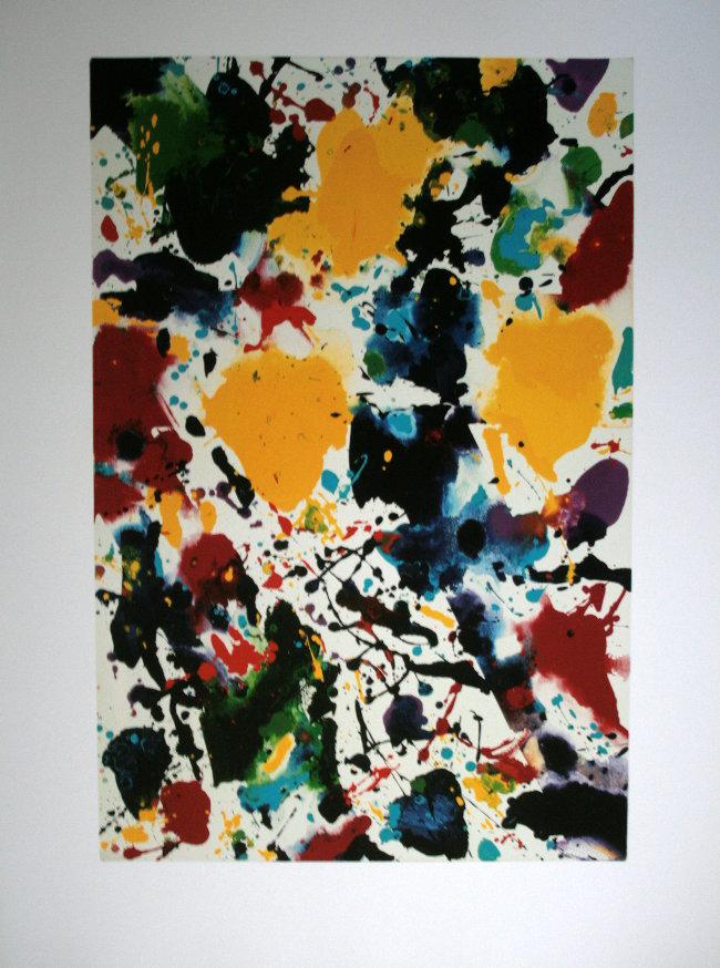 Sam Francis Untitled 1980 Reproduction Fine Art