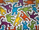 Keith Haring : 1983 (Personnages multicolores)