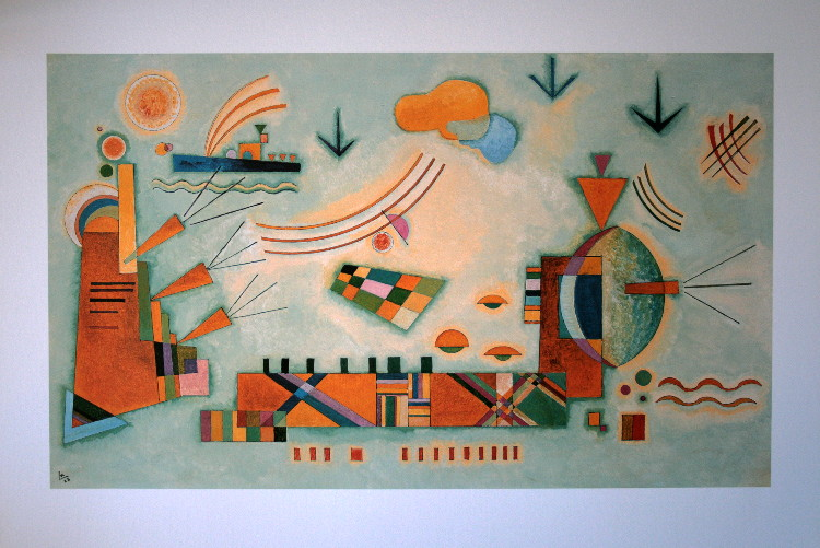 Wassily KANDINSKY : Sweet Event, 1928 : Reproduction, Fine ...