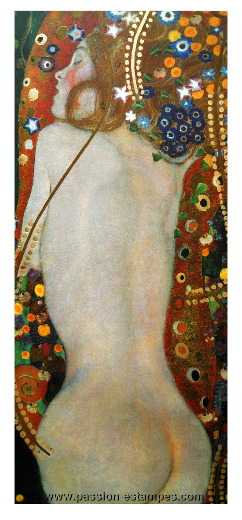 Gustav Klimt Sea Serpents Iv 1907 Reproduction Fine