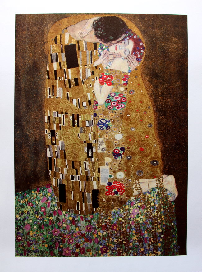 Gustav Klimt Le Baiser 1905 Luxueuse Reproduction