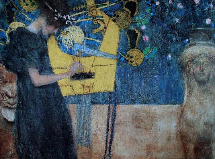 Gustav klimt la musique 1895 luxueuse reproduction en for Biographie de klimt
