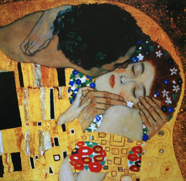 gustav klimt the kiss detail 1905 reproduction fine art print 70 x 70 cm. Black Bedroom Furniture Sets. Home Design Ideas