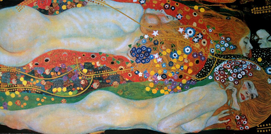 Affiche Gustav Klimt : Sea Serpents