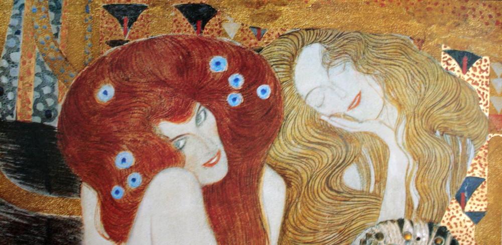 Gustav Klimt Fine Art Print With Gold Foil Beethoven
