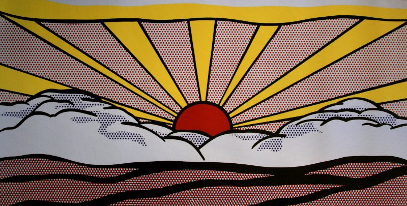 Roy Lichtenstein : Sunrise, 1965 : Reproduction, Fine Art print ...