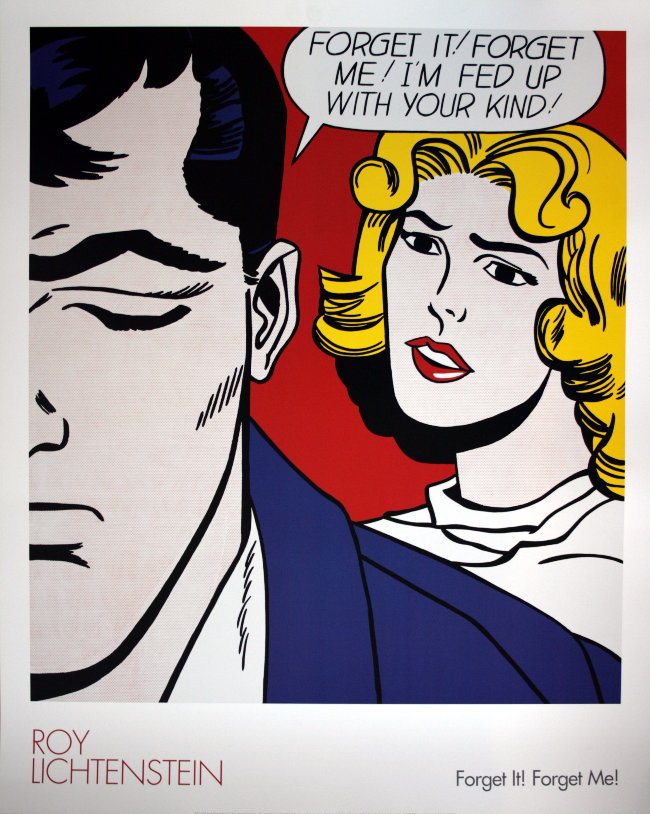 Roy LICHTENSTEIN : Forget it, forget me ! : Reproduction, Fine Art ...