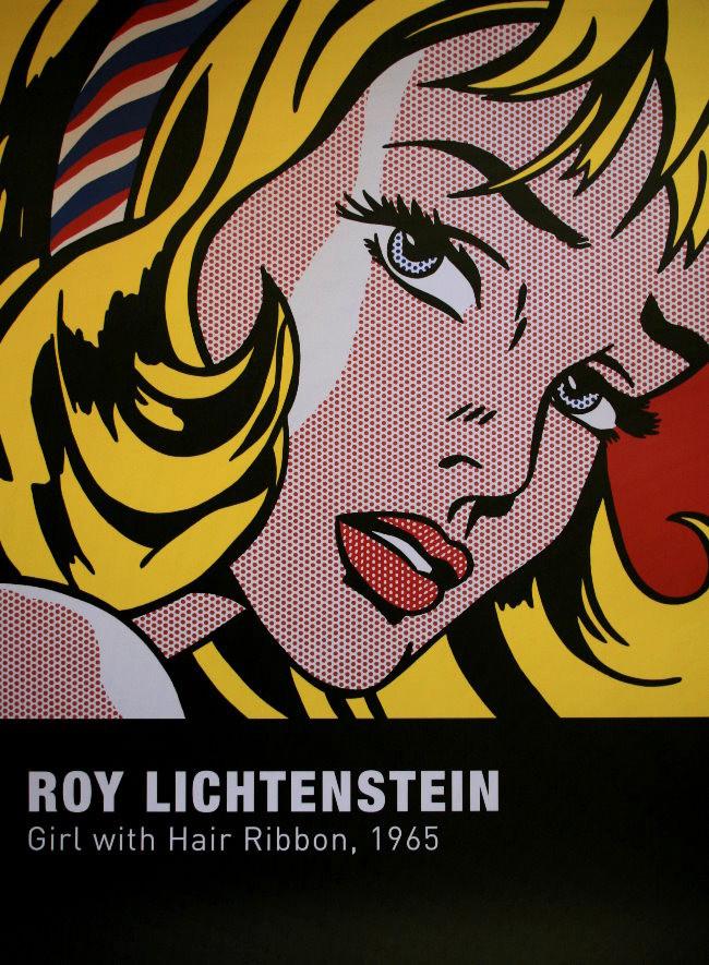 roy lichtenstein fille au ruban dans les cheveux 1965. Black Bedroom Furniture Sets. Home Design Ideas