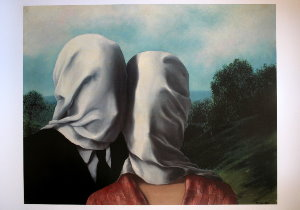 Magritte poster, The lovers II, 1928
