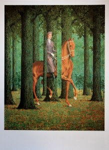 Affiche Magritte, Le blanc-seing, 1965