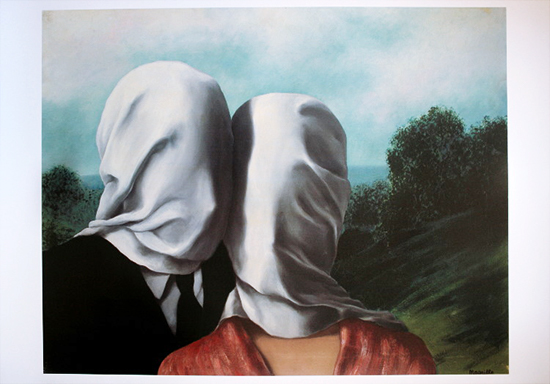 René Magritte poster print, The lovers II, 1928