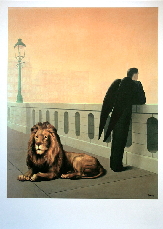 René Magritte poster print, Homesickness, 1941