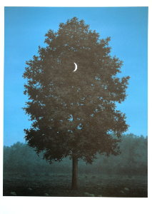 Magritte poster, The Sixteenth of September, 1956