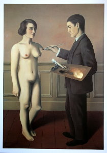 Magritte poster, An Attempt at the Impossible, 1928